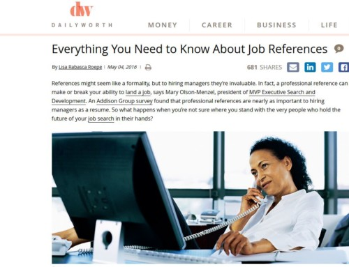 Everything You Need to Know About Job References – Daily Worth May 2016